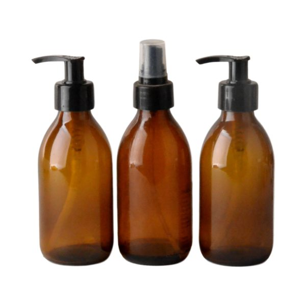 Bulk Body Care Lotion - Wash - Room and Linen perfume 200ml 6 units each Amber Bottles